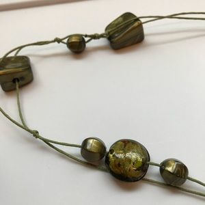 Jewelry - Long Green Beaded Necklace